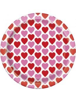 8 assiettes coeurs saint valentin