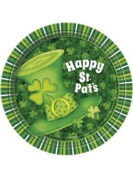 8 Assiettes carton Saint Patrick