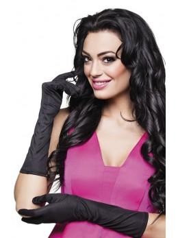 gants longs noir