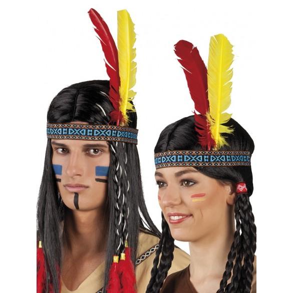 bandeau indien avec plume