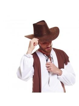 chapeau cowboy cuir marron