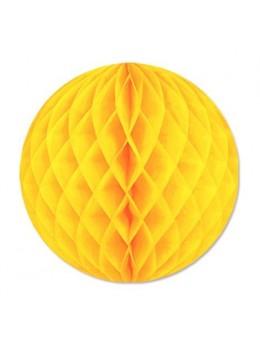 Boule papier ignifugé 50 cm jaune citron