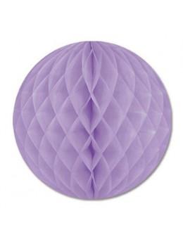 Boule papier ignifugé lilas 50 cm