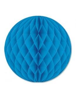 Boule papier ignifugé turquoise 50 cm