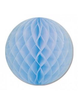 boule papier 50cm bleu ciel
