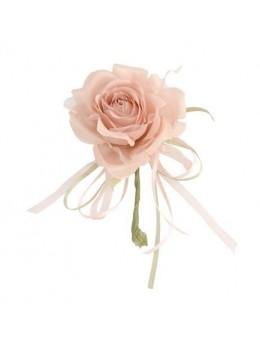 Décoration rose vintage 19cm blanche