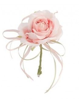 Décoration rose vintage 19cm pink