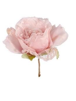 Décoration fleur dentelle 19cm
