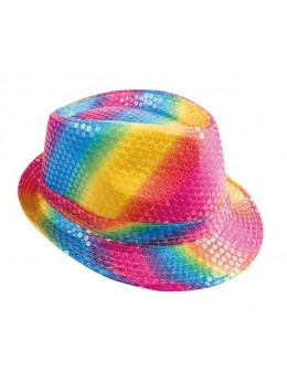 Borsalino sequin multicolore
