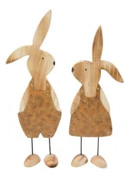 Lapin en bois fille et garçon 29x9x4,5cm