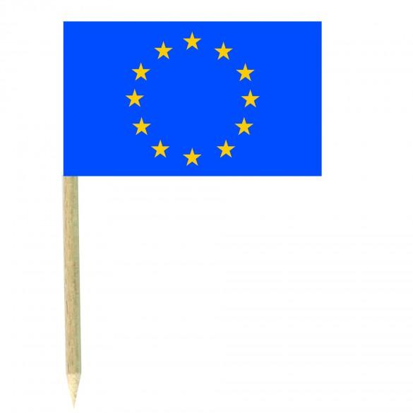 50 Mini drapeaux luxe Europe