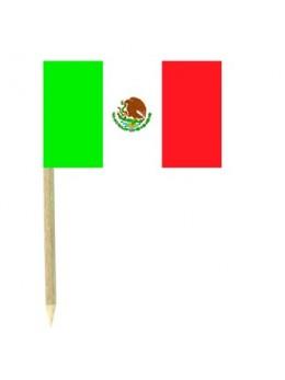 50 Mini drapeaux luxe Mexique