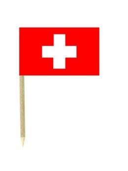 50 Mini drapeaux luxe Suisse