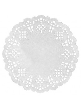 10 set de table papier dentelle 35cm blanc