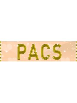 """Bannière """"Pacs"""" ivoire"""