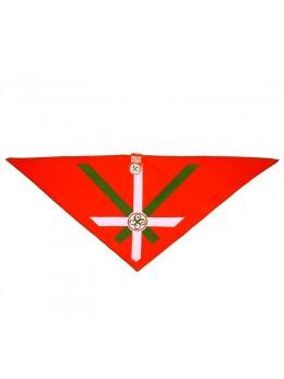Bandana rouge motif croix basque