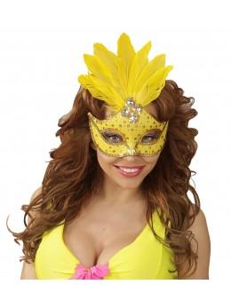 Masque loup jaune fluo brésil