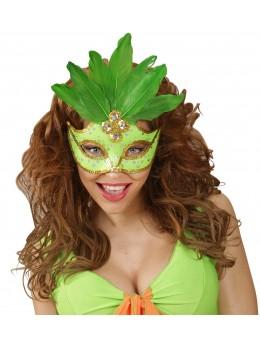 Masque loup vert fluo brésil