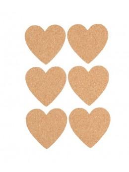 Confettis 12 coeurs liège 4cm