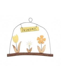 Suspension fleurs déco printemps