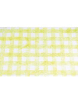 Chemin de table à carreaux vert et blanc