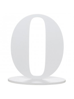 Marque table chiffre 0