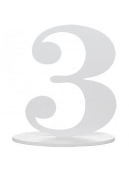 Marque table chiffre 3