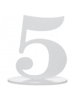 Marque table chiffre 5