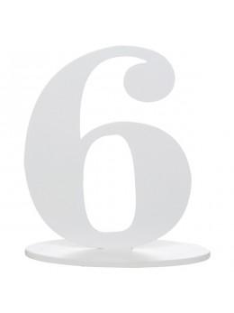 Marque table chiffre 6