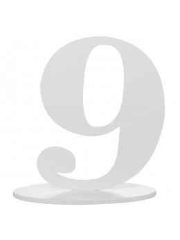 Marque table chiffre 9