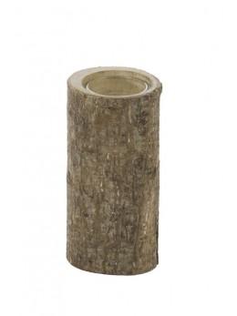 Bougeoir rondin de bois 14cm