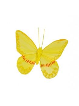 2 Papillons jaune