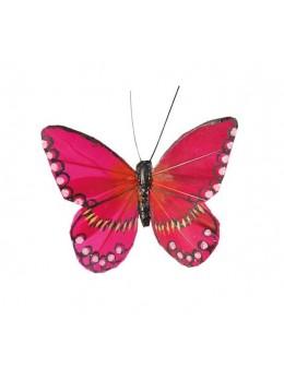 2 Papillons bordeaux