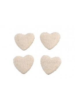 6 Confetti cœur lin