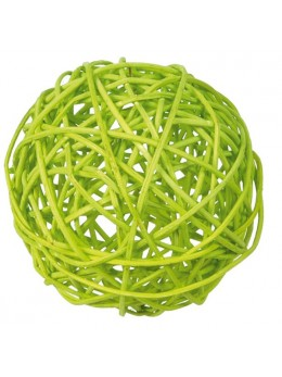 10 boules rotin vert