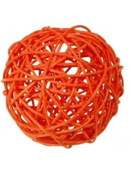 10 boules rotin orange