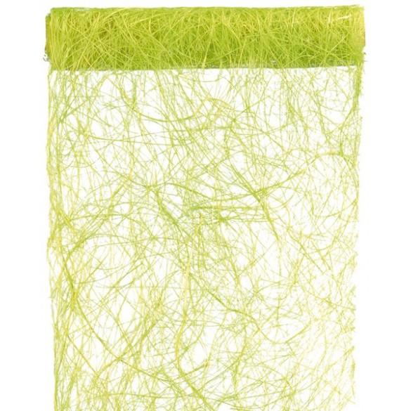 Chemin de table abaca vert anis