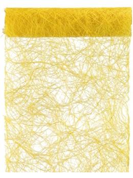 Chemin de table abaca jaune