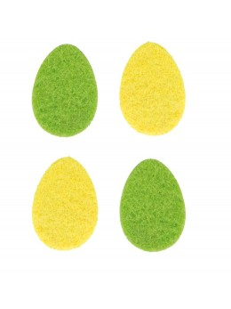 10 Oeufs feutrine jaune et vert