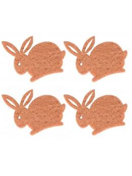 12 lapins brun feutrine