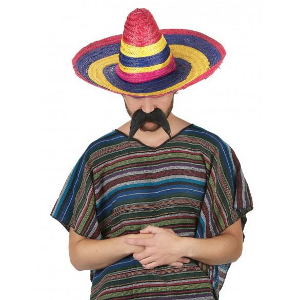 Sombrero mexicain bariolé Puebla