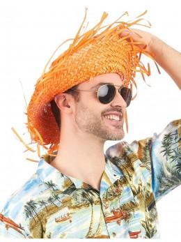 Chapeau Hawaï orange