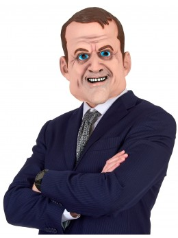 Masque latex humoristique Emmanuel Macron