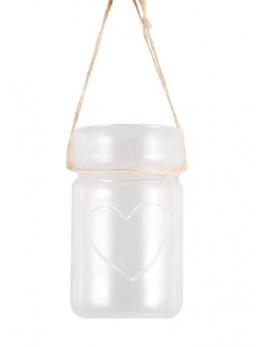Lanterne en verre coeur 11cm