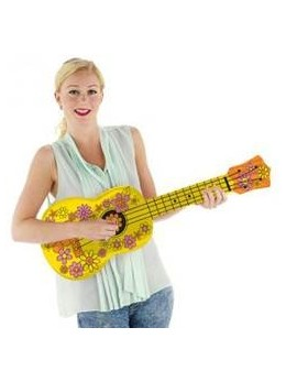 Guitare gonflable hippie 80cm
