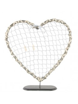 Déco coeur métal sur pied 40cm