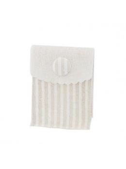 4 sacs lin rayé blanc