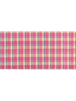 Chemin de table en lin madras fuchsia 28cmx5m