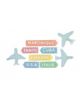 9 confetti de table thème Voyage