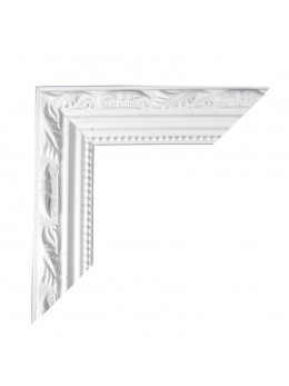 Cadre bois photobooth moulure blanc